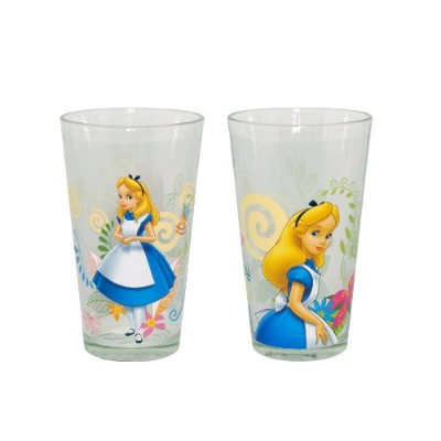 Disney Glass Alice in Wonderland Tumbler, 16-Ounce, Set of 2 by RSquared