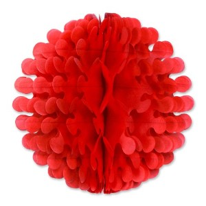 Beistle 1パックティッシュFlutter Ball 9 inches レッド 54897-R