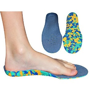 Childrens Insoles for Kids with Flat Feet Who Need Arch Support By Kidsoles (Kids Size 2-6) by KidSole