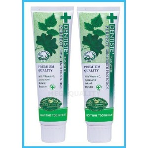2x100 G. Dentiste Plus White Vitamin C & Xyitol Gum Toothpaste Made in Thailand by Chicky shop