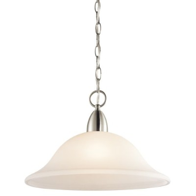 Kichler Lighting 42881CH Nicholson 1LT Pendant, Chrome Finish with Satin Etched Glass by Kichler