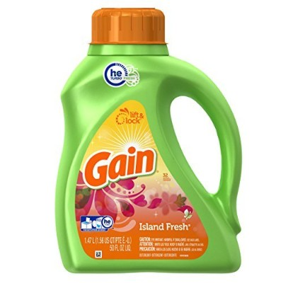 Gain Liquid Detergent with Freshlock, Island Fresh Scent, 32 Loads, 50-Ounce by GAIN
