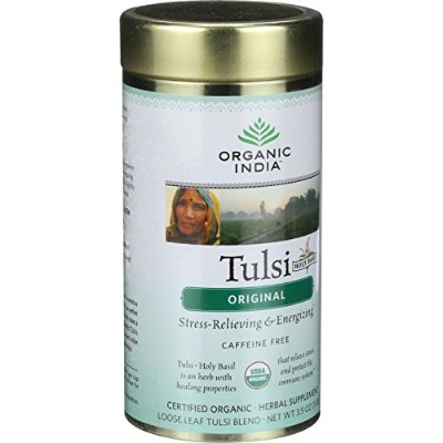 Organic India - Organic Tulsi Tea - Original - Loose Leaf - 3.5 oz by Organic India