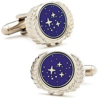 Licensed Star Trek UFPロゴCufflinks