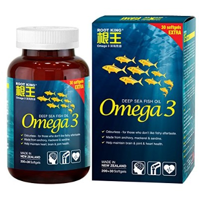 ROOT KING Omega 3 Odorless Fish oil -help maintain brain joint heart health
