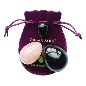 Yoni Eggs 3-pcs Set with 3 Sizes, 2 Gemstones, to Train Pelvic Floor Muscles to Gain Bladder...