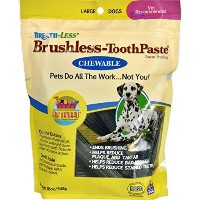 Ark Naturals, Breath-Less, Brushless Toothpaste, Chewable, Medium to Large Dogs, 18 oz by ARK...