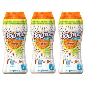 Bounce Bursts In-Wash Scent Booster, Outdoor Fresh, 9.7 Oz (Pack of 3) by Bounce