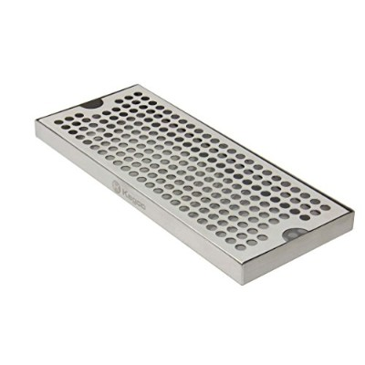 Kegco KC DP-125 Beer Drip Tray Surface No Drain Mount, 12, Stainless Steel by Kegco