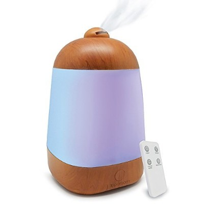 SpaRoom SpaMist Wood Grain Ultrasonic Aromatherapy Essential Oil Diffuser and Ultrasonic Cool...