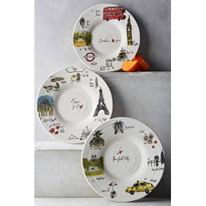 Anthropologie【アンソロポロジー】 City Vignette Canape Plate