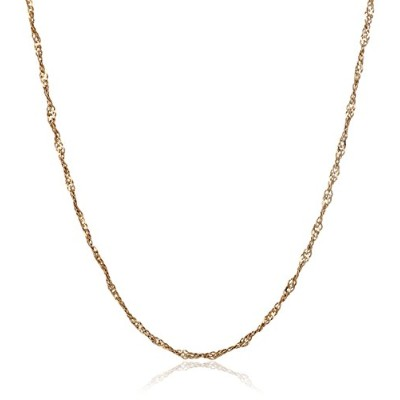 14K Solid Yellow Gold Rope Chain 18 Inches Long Width 0.50mm