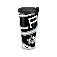 Tervis 1105449NHL LA Kings ColossalラップTumbler withブラック旅行蓋、24オンス、クリア