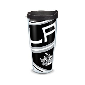 Tervis 1105449 NHL LA Kings ColossalラップTumbler withブラック旅行蓋、24オンス、クリア