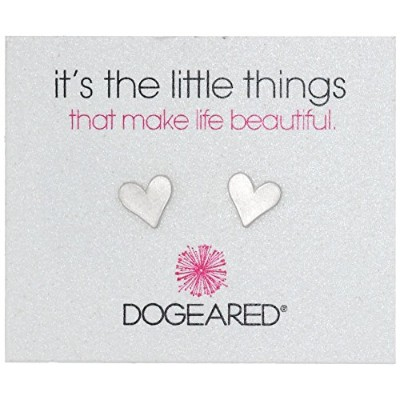 "[ドギャード]Dogeared ""It's the Little Things"" Sterling Silver Heart Post Earrings ジュエリー[並行輸入品]"
