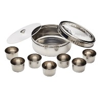 World Of Flavours Indian Stainless Steel Masala Dabba by KitchenCraft