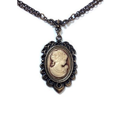 Cameo Vintage Victorian ovalブロンズネックレス – Boxed &ギフトラップ