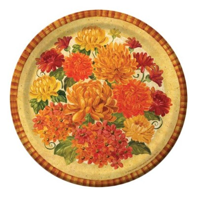 Creative Converting 8Count Magnificent Mums Dinner Plates