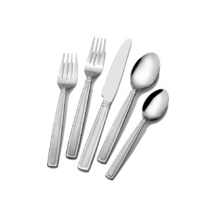 Gourmet Basics by Mikasa Dolcina Frost 20-Piece Flatware Set, Service for 4 by Gourmet Basics by...