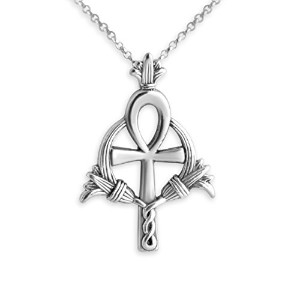 925 Sterling Silver Egyptian Ankh Charm Pendant