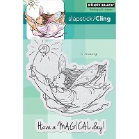 """Penny Black Cling Rubber Stamp 5""""X7.5"""" Sheet-Magical Day (並行輸入品)"""
