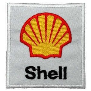 3 x 3.2Shell Sponsor Motorsport Racing DIY Embroidered Sew Iron on Patch by Poly patch