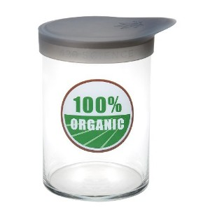 Large 100%有機Wide Mouth Jar with Silicone Lid by 420Science–5.75インチ–Holds 2oz
