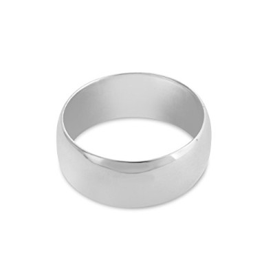 925 Sterling Silver Wedding Ring Band (8mm) (6)