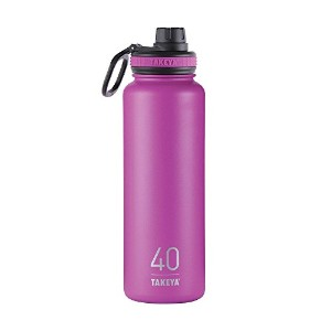 Takeya ThermoFlask Insulated Stainless Steel Water Bottle, 40 oz, Orchid by Takeya