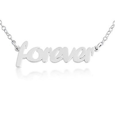925 Sterling Silver Forever Pendant Necklace (18 Inches)