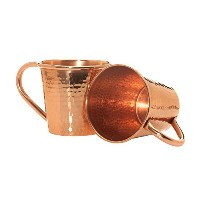 Sertodo Copper Moscow Mule Mug, 12 Fluid Ounce, Hammered Copper, Set of 2 by Sertodo Copper