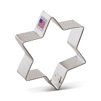 Ann Clark Star of David Cookie Cutter - 3.75 Inches - Tin Plated Steel by Ann Clark Cookie Cutters