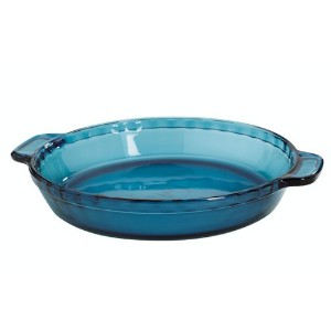 Anchor Hocking Coastal Blue Glass Single Pie Dish, 9.5 Inch by Anchor Hocking
