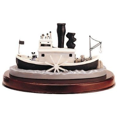 Walt Disney Classics WDCC Steamboat Willie Boat w/ base 11K 412640 蒸気船ウィリーボート ミッキー フィギュア Disney社...