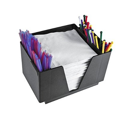 Co-Rect Plastic Bar Caddy with Square Design, Black by Co-Rect Products