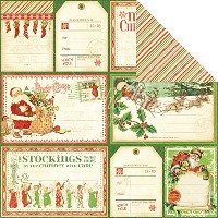 "'Twas The Night Before Christmas Dbl-Sided Cardstock 12""X12""-Up On The Housetop (並行輸入品)"