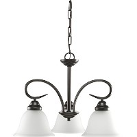 HomeStyle HS47002-125 Three Light Chandelier(CFL with Bulb Included) in Bronze by Progress Lighting