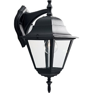 HomeStyle HS71007-31 One Light Medium Wall Lantern-Down/Die Cast in Black by Progress Lighting