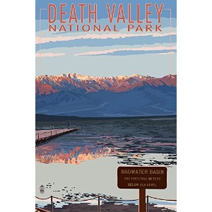 Badwater – Death Valley National Park 24 x 36 Giclee Print LANT-36723-24x36