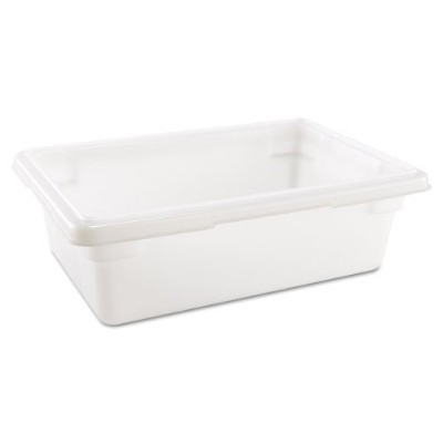 Rubbermaid Commercial Food/Tote Boxes, 3.5gal, 18w x 12d x 6h, White - Includes one each. by...