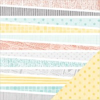 """Amy Tan Stitched Double-Sided Cardstock 12""""X12""""-Thrifted (並行輸入品)"""