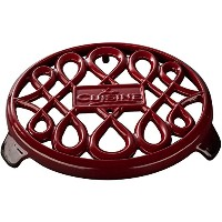 La Cuisine 7 In Enameled Cast Iron Round Trivet, Red by La Cuisine