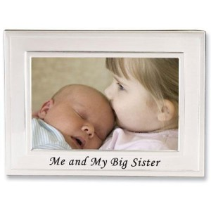 Lawrence Frames Big Sister Silver Plated 6x4 Picture Frame - Me And My Big Sister Design by...