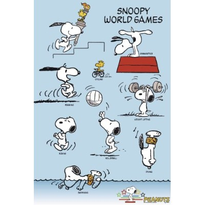 Peanuts Snoopy World Games Poster (61cm x 91,5cm)