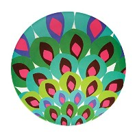 French Bull - Melamine Serving Platter - 15-1/2-Inch Round Serving Tray - for Indoor and Outdoor...