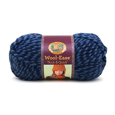 Lion Wool-Ease Thick and Quick 毛糸 超極太 ブルー系 141g 約80m