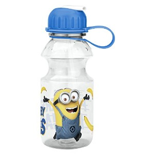Zak! Designs Tritan Water Bottle with Flip-up Spout with Minions from Despicable Me 2, Break...
