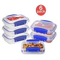 Sistema Klip It 3 by 6.7-Ounce Containers, 6-Pack, Clear by Sistema
