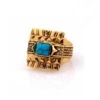 Cushion Cocktail Ring with Turquoise サイズUS7 【並行輸入品】