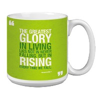 Tree-Free Greetings Extra Large 20-Ounce Ceramic Coffee Mug, Nelson Mandela Themed Inspiring Quote...
